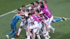 Russland gewann das Achtelfinal-Spiel gegen Spanien mit 4:3.