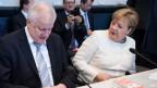 Horst Seehofer, CSU und Angela Merkel, CDU.
