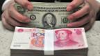 Die chinesische Währung Renminbi schwächelt - die Investoren flüchten in den Dollar.