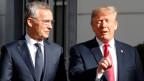 US-Präsident Donald Trump (rechts) und Nato- Generalsekretär Jens Stoltenberg.