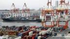 Der Container-Hafen von Tokyo.