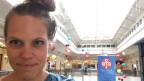 SRF-Afrika-Korrespondentin Anna Lemmenmeier im Westgate-Einkaufszentrum in Nairobi.