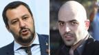 Italiens Innenminister Matteo Salvini (links) und der Anti-Mafia-Schriftsteller Roberto Saviano.