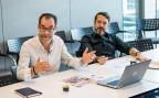 Zwei Mitglieder der Redaktion von «Le Matin» während der Redaktionssitzung für die letzte gedruckte Ausgabe.