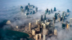 Luftaufnahme der Hochhäuser von Doha, Katar.