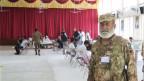 In einem Wahllokal in Islamabad.