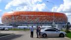 Wie ein Ufo sieht es aus - das neue Fussballstadion in Saransk.