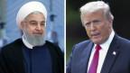 Hassan Rohani, iranischer Präsident (links) und Donald Trump, Präsident USA.