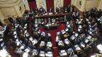 Im Parlament von Argentinien wurde heftig debattiert.