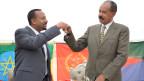 Agiy Ahmed, Äthiopiens Premierminister (links) und Isaias Afwerki, Präsident Eritrea.