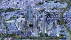 Modell der neu geplanten Hauptstadt Kairo im Maspero-Dreieck.