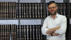Schmuel Kalmus, einer der beiden Gründer der Firma Weel, die High-Tech und religiöses Studium verbindet.