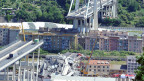 Morandibrücke in Genua, welche eingestürzt ist.