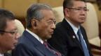 Der malaysische Premierminister Mahathir Mohamad während eines Treffens im Diaoyutai State Guesthouse in Peking, China, am 20. August 2018.