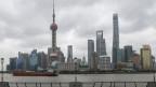 Blick auf den Finanzbezirk von Pudong in Shanghai, China.