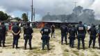 Brasilianische Militärpolizei an der Grenze zu Venezuela.