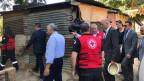 Bundespräsident Alain Berset besucht ein Flüchtlingslager in Akkar, Libanon an der syrischen Grenze.