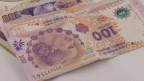 Argentinische Peso-Noten.