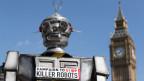 Protest gegen Killerroboter in London.