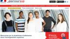 Screenshot von www.parcoursup.fr, der neuen Einschreibe-Plattform für zukünftige Studierende.