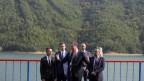Der serbische Präsident Vucic durfte den Gazivoda-Staudamm im Kosovo besuchen.