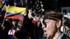 Indigene protestieren in New York gegen die Ölverschmutzung durch Chevron (2013).