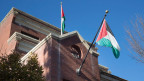 Noch wehen die Flaggen an der Vertretung der PLO in Washington