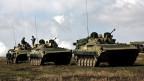 Russische Panzer an einer Übung.