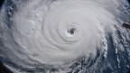 Hurrikan Florence aufgenommen von der nternationalen Raumstation ISS.