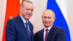 Russlands Präsident Vladimir Putin (rechts) und der türkische Präsident Recep Tayyip Erdogan.