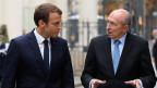 Frankreichs Präsident Emmanuel Macron (links) und Innenminister Gérard Collomb am 6. September 2017 in Paris.