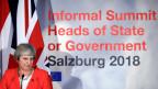 Grossbritanniens Premierministerin Theresa am EU-Gipfel in Salzburg am 20. September 2018.