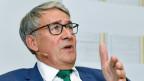 Urs Schwaller, VR-Präsident Post Schweiz AG, an der Medienkonferenz am 21. September 2018. Den Betrag von 205 Mio Franken könne die Post vertragen.
