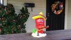 In diesem Haus in San Antonio, Texas, wohnt ein Latino.