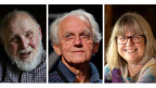 Die Physik-Nobelpreis-Träger 2018: Arthur Ashkin, USA; Gerard Mourou, Frankreich und Donna Strickland, Kanada (von links).
