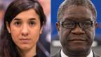 Die Menschenrechtsaktivistin Nadia Murad (links) und der Arzt Denis Mukwege.