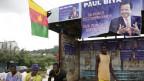 Wahlplakat in Yaoundé