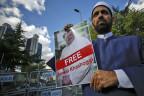 Protest vor dem saudischen Konsulat