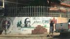 In der Stadt Ciudad Barrios auf einer Mauer als Graffiti verewigt: Monsignore Romero. Der Erzbischof von San Salvador wird vom Vatikan heiliggesprochen. Für viele Menschen in El Salvador geht damit ein Herzenswunsch in Erfüllung.