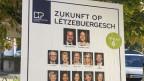 Wahlplakat in Luxemburg.