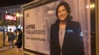 Die Kandidatin Salome Zurabishvili auf einem Wahlplakat.