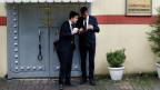 Sicherheitsbeamte vor dem saudischen Konsulat in Istanbul.