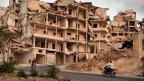 Ariha, die Stadt in der Provinz Idlib in Syrien wurde fast vollständig zerstört.