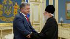 Der ukrainische Präsident Petro Poroschenko (links) und Patriarch Filaret, Leiter der Ukrainischen Orthodoxen Kirche des Kiewer Patriarchats, in Kiew, Ukraine am 11. Oktober 2018.