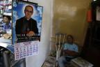 Das Bildnis Romeros einem Laden in San Salvador