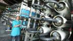 Trinkwasser-Aufbereitungsanlage in Singapur.