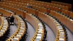 Das verlassene EU-Parlament in Brüssel