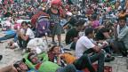 Honduranische Migranten in der Stadt Huixtla im Bundesstaat Chiapas, Mexiko, am 22. Oktober 2018.