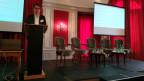 Mark Eisenegger (fög) anlässlich der Präsentation des Jahrbuchs Qualität der Medien.