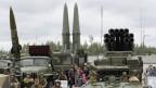 Russische ballistische Waffen bei Sankt Petersburg.